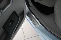 купить Накладки на пороги Хонда Цивик 9 4Д (защитные накладки Ho