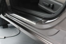 заказать Накладки на пороги Хонда Цивик 9 4Д (защитные накладки