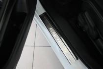 Накладки на пороги Хонда Цивик 9 5Д (защитные накладки Honda Civic 9 5D)