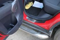 заказать Накладки на пороги Хонда СРВ 3 (защитные накладки Honda