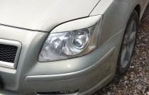Реснички на фары Тойота Авенсис 2 (накладки фар Toyota Avensis 2)