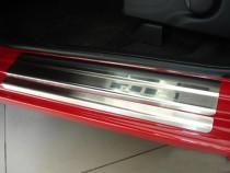 Накладки на пороги Хонда Джаз 2 в магазине експресстюнинг (защит