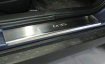 Накладки на пороги Хендай ix35 в магазине expresstuning (защитны