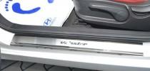 Накладки на пороги Хендай Велостер (защитные накладки Hyundai Veloster)