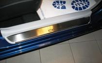 Накладки на пороги Киа Сид 1 3Д в магазине expresstuning (защитн