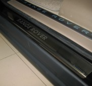 Накладки на пороги Рендж Ровер Спорт 1 (защитные накладки Range Rover Sport 1)