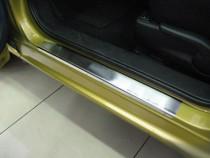 Накладки на пороги Мазда 2 DE (защитные накладки Mazda 2 DE)