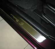 Накладки на пороги Мазда 3 Bk (защитные накладки Mazda 3 Bk)