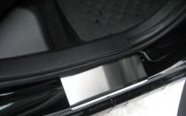 Накладки на пороги Митсубиси Кольт 6 5Д (защитные накладки Mitsubishi Colt 6 5D)