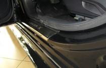 Накладки на пороги Митсубиси Лансер 10 (защитные накладки Mitsubishi Lancer 10)