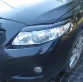 Реснички на фары Тойота Королла 10 Е150 (накладки фар Toyota Corolla X E150)