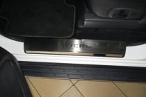 Накладки на пороги Митсубиси Паджеро Вагон 4 (защитные накладки Mitsubishi Pajero Wagon 4)