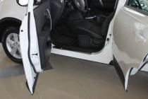 Накладки на пороги Ниссан Дуалис (защитные накладки Nissan Dualis)