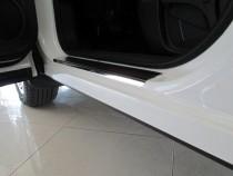 Накладки на пороги Ниссан Дуалис +2 (защитные накладки Nissan Du