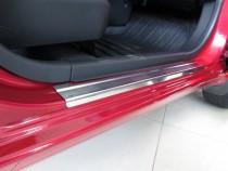 Накладки на пороги Ниссан Микра К13 (защитные накладки Nissan Micra K13)