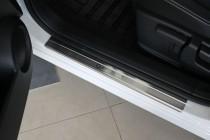 Накладки на пороги Ниссан Кашкай 1 (защитные накладки Nissan Qashqai 1)