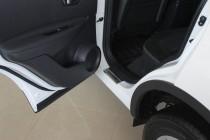 Накладки на пороги Ниссан Кашкай (защитные накладки Nissan Qashq
