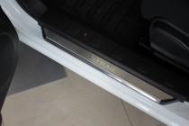 Накладки на пороги Ниссан Х-Трейл Т31 (защитные накладки Nissan X-Trail T31)