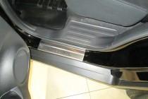 заказать Накладки на пороги Ниссан Х-Трейл 3 T32 (защитные накла