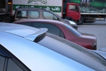 Спойлер бленда на заднее стекло Toyota Camry V30 (спойлер на сте