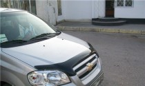 SIM Мухобойка капота Шевроле Авео Т250 (дефлектор на капот Chevrolet Aveo T250)