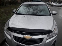 Мухобойка капота Шевроле Круз (дефлектор на капот Chevrolet Cruz
