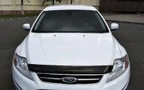 Дефлектор капота Форд Мондео 2010- рестайл (мухобойка на капот Ford Mondeo Mk4 2010-)