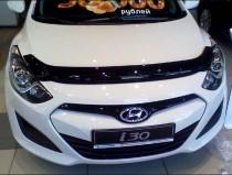 Мухобойка капота Хендай i30 2 GD (дефлектор на капот Hyundai i30 2 GD)