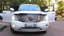 дефлектор на капот Nissan Patrol Y62