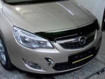 Мухобойка капота Опель Астра J короткая (дефлектор на капот Opel Astra J короткий)