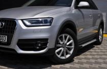 Пороги Ауди Q5 стиль Almond серые (пороги для Audi Q5)