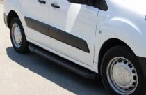 Пороги Citroen Berlingo 2 (пороги на Ситроен Берлинго 2 дизайн Almond черные)