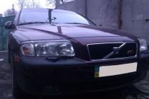 Оригинальные тюнинг реснички на передние фары Volvo S80 седан (ф