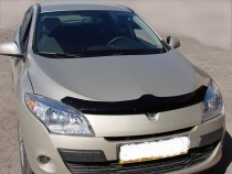 Дефлектор капота Рено Меган 3 (мухобойка Renault Megane 3)
