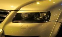 Реснички на фары Фольксваген Туарег 1 дорестайл (накладки фар VW Touareg 1 дорестайл)