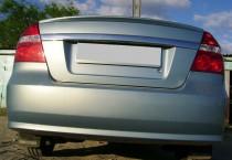 Накладка на багажник Шевроле Авео седан Т250 (спойлер лип)