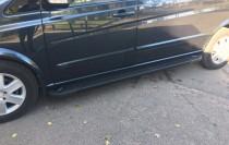 Пороги Mercedes Vito W639 дизайн Almond черные