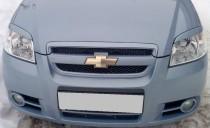 Накладки на фары Шевроле Авео Т250 (Aveo седан)