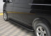 Пороги Volkswagen Transporter T5 дизайн Almond черные с 2003-