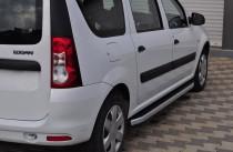 Пороги боковые Dacia Logan MCV дизайн Fullmond