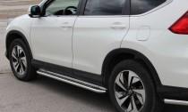 Боковые пороги труба с листом Honda CR-V 4
