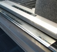 Защитные накладки на пороги Ленд Ровер Дискавери 4 (накладки на пороги Land Rover Discovery 4)