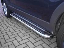 Пороги труба с листом Opel Antara