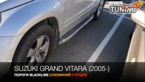 Erkul  Боковые пороги Suzuki Grand Vitara черные