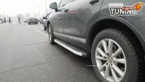 Боковые подножки Volkswagen Touareg Black line