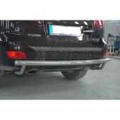 Защита заднего бампера Хендай Санта Фе 2 СМ (одинарная силовая защита Hyundai Santa Fe 2)