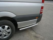 Защитные трубки заднего бампера Мерседес Спринтер W906 (защитные силовые трубы Mercedes Sprinter W906)