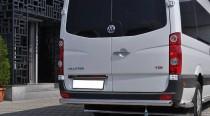 Защита заднего бампера Фольксваген Крафтер 1 (одинарная силовая защита Volkswagen Crafter 1)