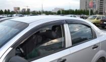 Ветровики Шевроле Авео Т300 седан (дефлекторы окон Chevrolet Aveo T300 sd)