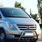 Кенгурятник Хендай Н-1 2 (защита переднего бампера Hyundai H-1 2)